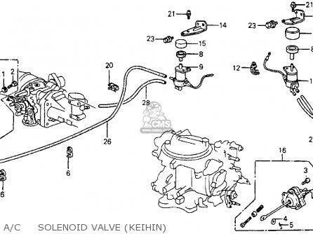 Honda Crx 1987 2dr Dx (ka,kl) parts list partsmanual