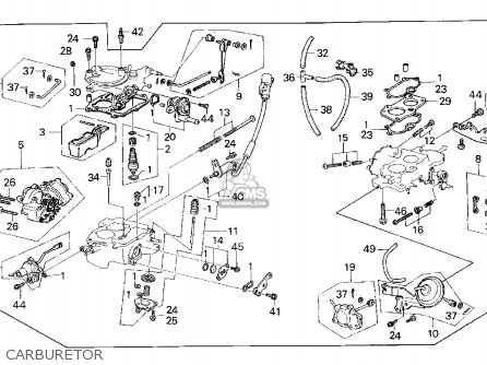 Honda Crx 1987 2dr Dx (ka,kl) parts list partsmanual