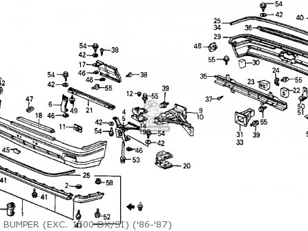 Honda Crx 1987 2dr Hf (ka,kh,kl) parts list partsmanual