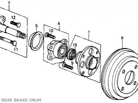 Honda Crx 1987 2dr Si (ka,kl) parts list partsmanual