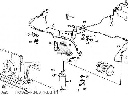 Honda Crx 1987 (h) 2dr Dx (ka,kl) parts list partsmanual