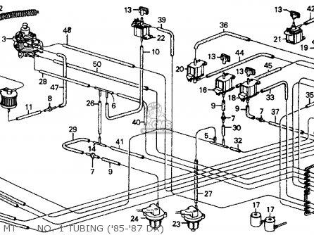 Honda CRX 1987 (H) 2DR DX (KA,KL) parts lists and schematics