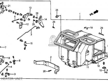 Honda CRX 1987 (H) 2DR HF (KA,KH,KL) parts lists and