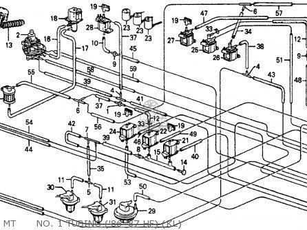Honda Crx 1987 (h) 2dr Hf (ka,kh,kl) parts list