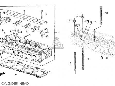 Honda Crx 1987 (h) 2dr Si (ka,kl) parts list partsmanual