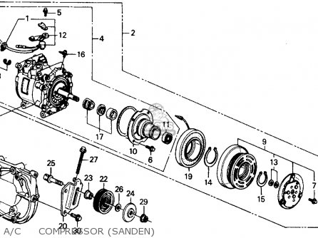 Honda Crx 1988 2dr Dx (ka,kl) parts list partsmanual