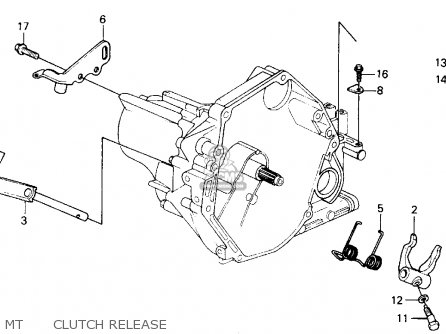 Honda Crx 1988 2dr Dx (ka,kl) parts list partsmanual