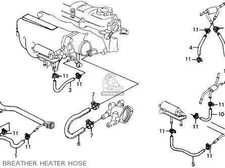 Honda Crx 1988 2dr Si (ka,kl) parts list partsmanual