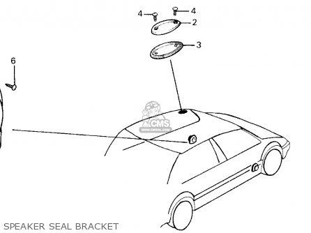 Honda Crx 1988 (j) 2dr Hf (ka,kh,kl) parts list