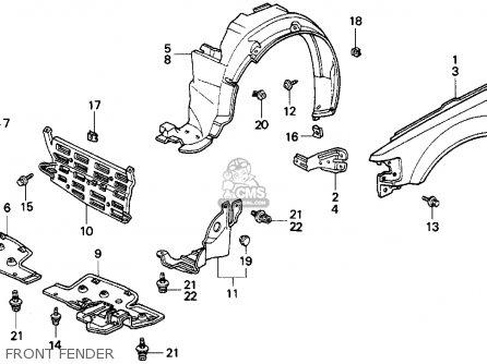 Honda Crx 1989 2dr Si (ka,kl) parts list partsmanual
