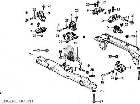 Honda Crx 1989 (k) 2dr Dx (ka,kl) parts list partsmanual