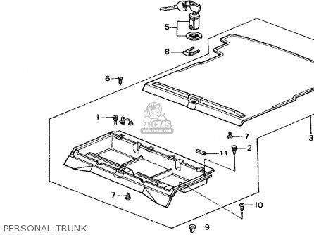 Honda Crx 1989 (k) 2dr Hf (ka,kh,kl) parts list