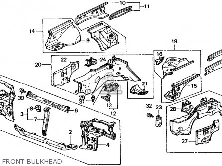 Honda Crx 1989 (k) 2dr Si (ka,kl) parts list partsmanual