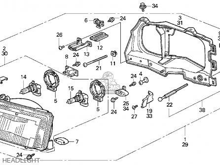 Honda CRX 1989 (K) 2DR SI (KA,KL) parts lists and schematics