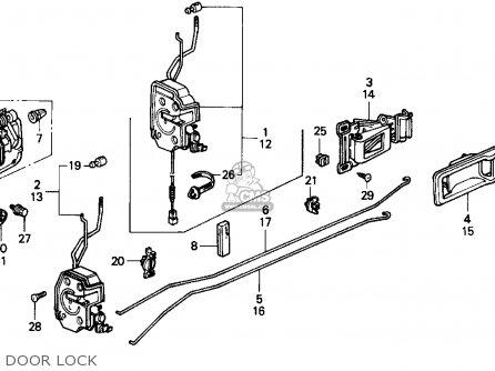 Honda Crx 1990 2dr Dx (ka,kl) parts list partsmanual