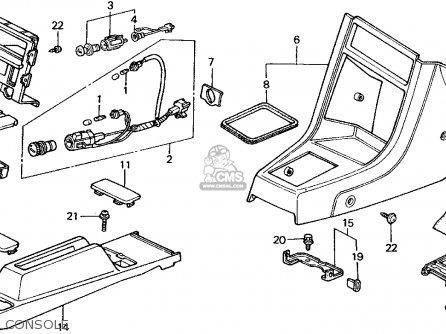 Honda Crx 1990 2dr Si (ka,kl) parts list partsmanual