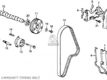 Honda Crx 1990 (l) 2dr Si (ka,kl) parts list partsmanual
