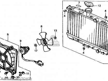 Honda CRX 1990 (L) 2DR SI (KA,KL) parts lists and schematics