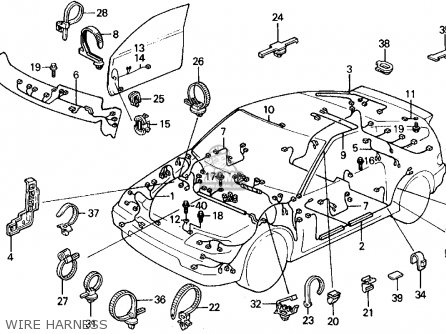 Honda CRX 1990 (L) 2DR SI (KA,KL) parts lists and schematics
