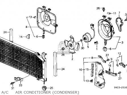 Honda Crx 1991 2dr Dx (ka,kl) parts list partsmanual