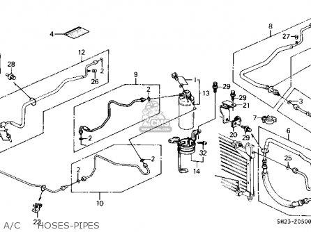 Honda Crx 1991 2dr Hf (ka,kh,kl) parts list partsmanual