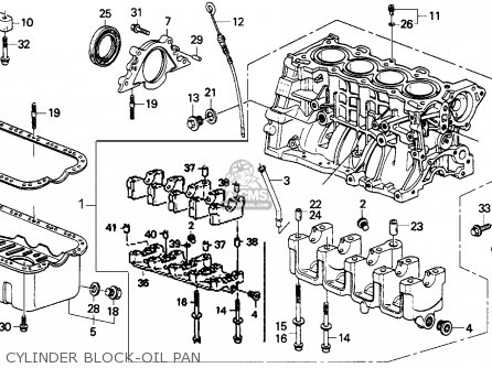Honda Crx 1991 (m) 2dr Dx (ka,kl) parts list partsmanual