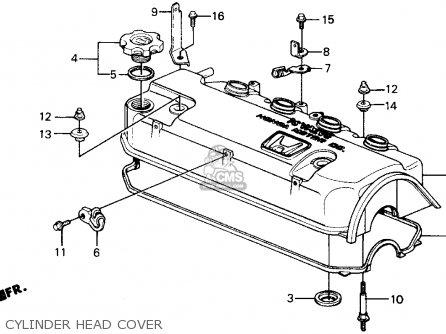 Honda Crx 1991 (m) 2dr Dx (ka,kl) parts list partsmanual