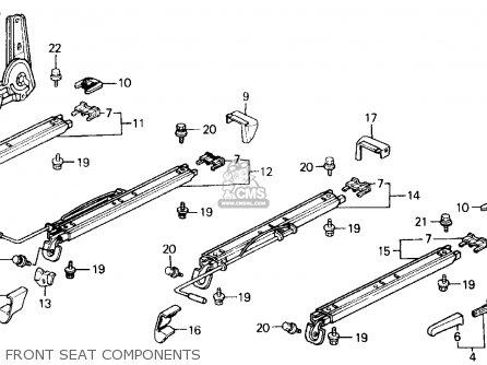 Honda CRX 1991 (M) 2DR DX (KA,KL) parts lists and schematics