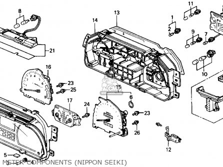 Honda CRX 1991 (M) 2DR DX (KA,KL) parts lists and schematics
