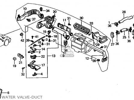 Honda CRX 1991 (M) 2DR SI (KA,KL) parts lists and schematics