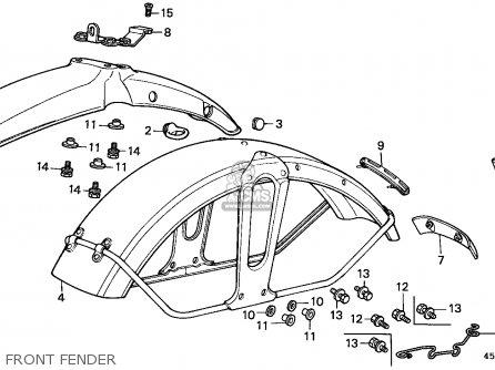 Honda CT110 HUNTER CUB 1980 (A) CANADA / KPH parts lists