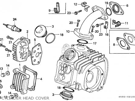 Honda Ct110 Hunter Cub 1986 (g) Canada / Kph parts list