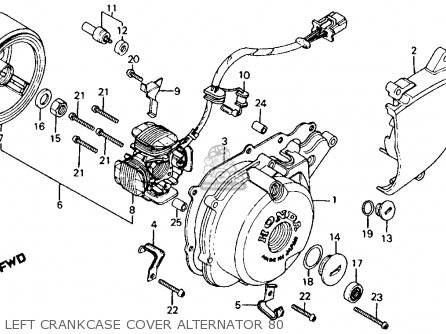 Honda Ct110 Trail 110 1980 Usa parts list partsmanual