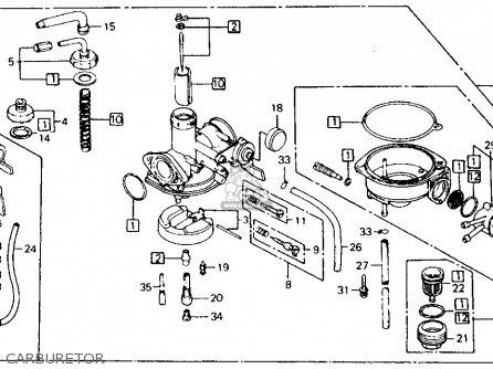 Honda Ct110 Trail 110 1982 Usa parts list partsmanual