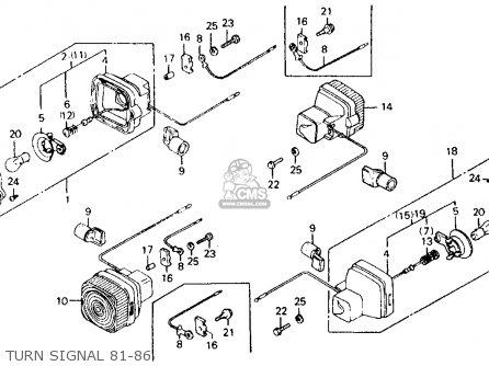 Honda Ct110 Trail 110 1983 Usa parts list partsmanual
