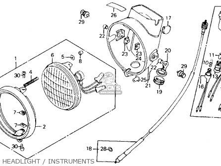 Honda Ct110 Trail 110 1984 Usa parts list partsmanual