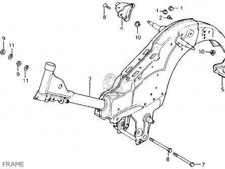 Honda Ct110 Trail 110 1986 Usa parts list partsmanual