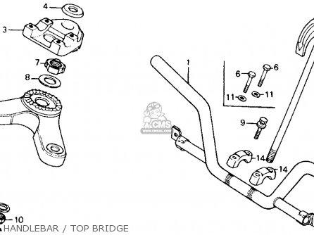 Honda CT110 TRAIL 1980 (A) USA parts lists and schematics