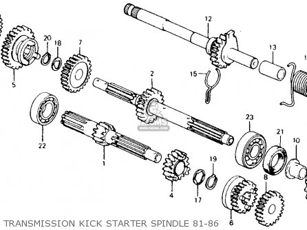 Honda Ct110 Trail 1981 (b) Usa parts list partsmanual