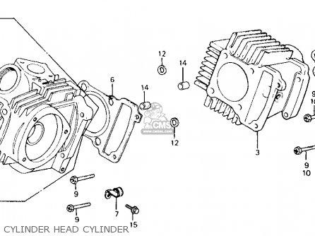 Honda Ct110 Trail 1983 (d) Usa parts list partsmanual