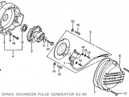 Honda CT110 TRAIL 1983 (D) USA parts lists and schematics