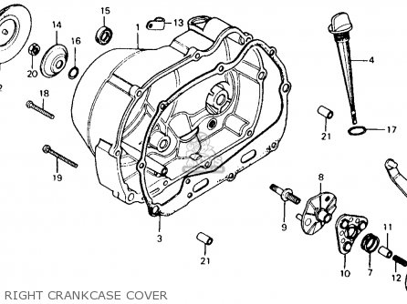Honda Ct110 Trail 1984 (e) Usa parts list partsmanual