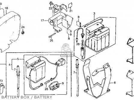 Honda CT110 TRAIL 1986 (G) USA CALIFORNIA parts lists and