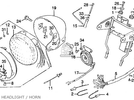 Honda CT125 TRAIL 1977 USA parts lists and schematics