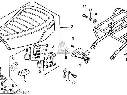 Honda Ct125 Trail 1977 Usa parts list partsmanual partsfiche
