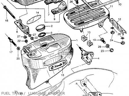 Honda Ct200 Trail 1964 Usa parts list partsmanual partsfiche