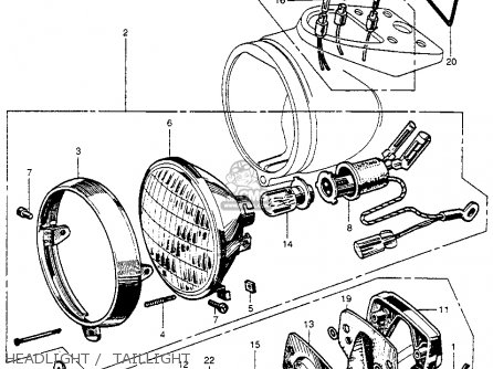Honda Ct200 Trail 90 1964 Usa parts list partsmanual