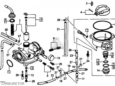 Honda CT70 1993 (P) USA parts lists and schematics