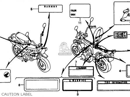 Honda CT70 1993 (P) USA parts lists and schematics