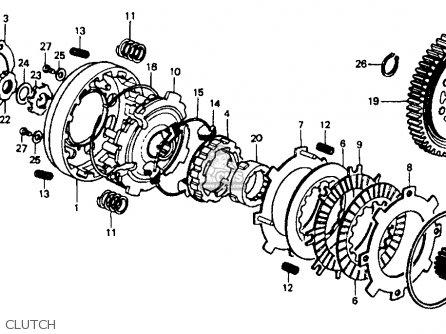 Honda Ct70 1994 (r) Usa parts list partsmanual partsfiche
